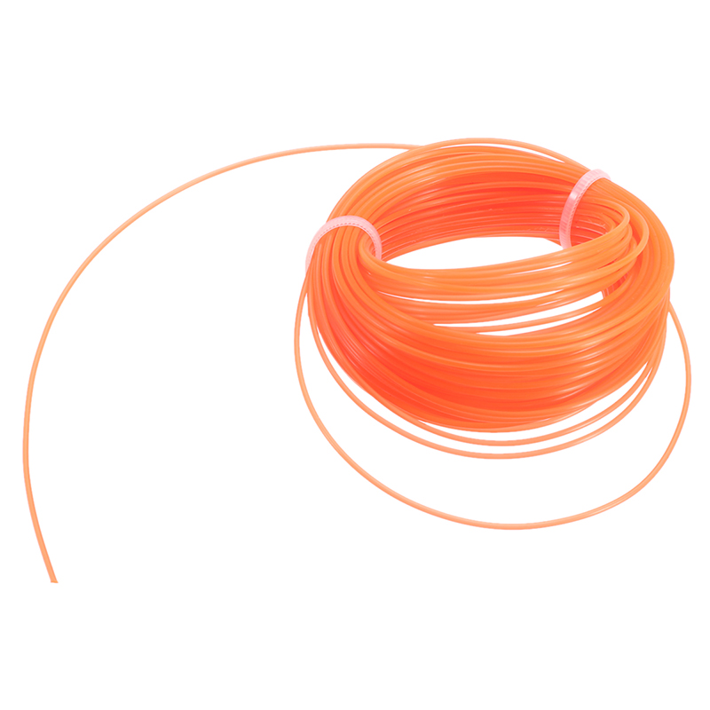 1pc Red Nylon Trimmer Line Rope Roll Cord Wire String For Grass Strimmer 15m X 3mm Tough And Flexible Nylon Trimmer Rope