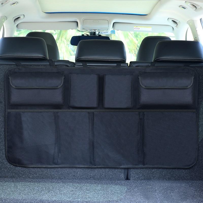 Organizador maletero del coche ajustable asiento de bolsa de almacenamiento de red de alta capacidad Multi-uso Oxford asiento del automóvil a los organizadores Universal