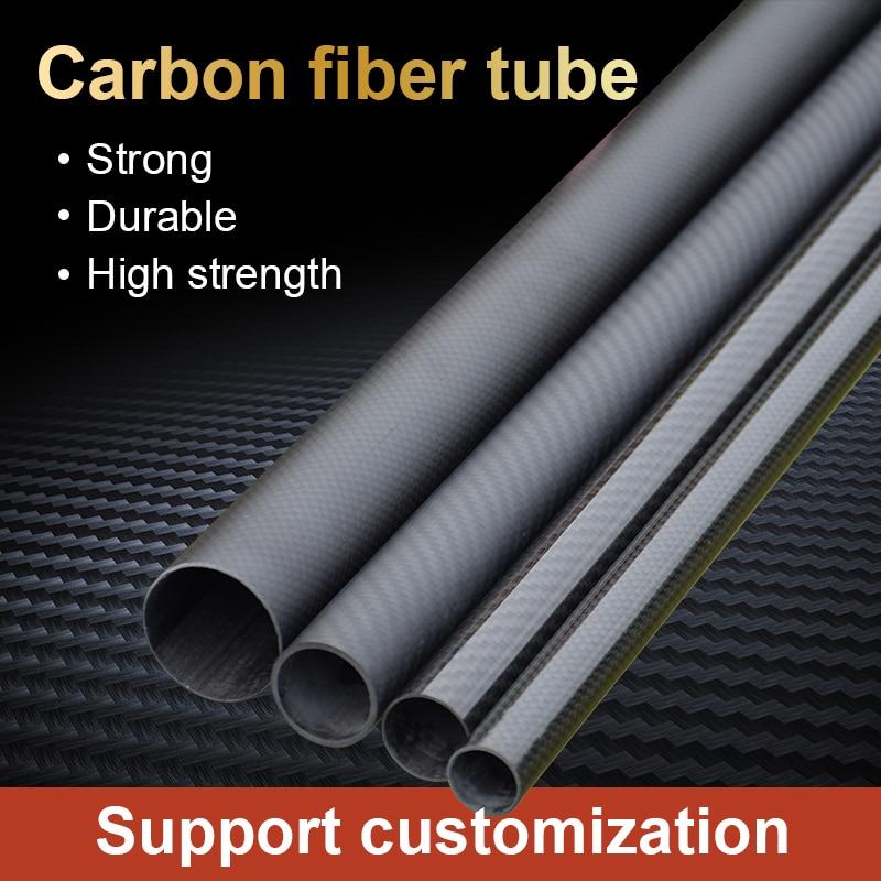 3 k Tube en Fiber de carbone Protection des plantes Drone accessoires 50mm modèle personnalisé exquis artisanat en Fiber de carbone tuyau