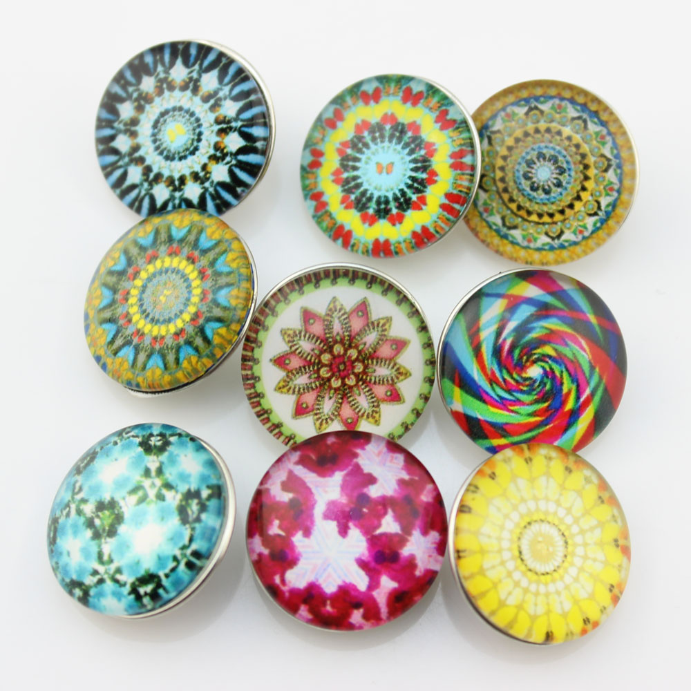 Mix 50pcs glass snap button for ginger snap jewelry explsion ginger snap jewelry 18mm