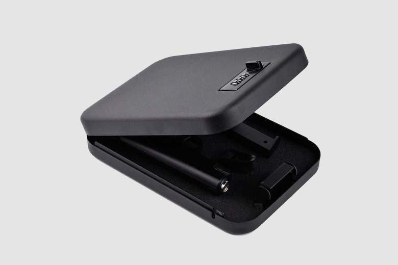 Security Key Portable Car Safe Box Handgun Valuables Money Jewelry Storage Box Strongbox Cold-rolled Steel Sheet