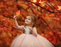 Bola puffy tulle bebé Tutu vestidos para 1 cumpleaños partido vestido con lentejuelas de oro niño manga larga niños vestido del desfile