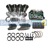 Revisão do motor reconstruir kit para yanmar 4tne98 injeção direta
