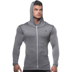 Image 2 - Men Bodybuilding Hoodie Gyms Fitness Tight Zipper Sweatshirt Man Autumn New Casual Hooded Jacket Male Jogger Workout Clothing