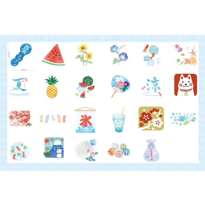 Купить с кэшбэком 46pcs/box New Summer Wind Festival Diary Mini Paper Sticker Decoration DIY Album Diary Scrapbooking Label Sticker Stationery