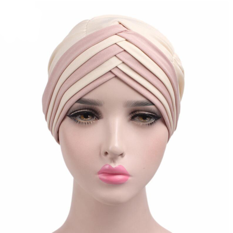 2017 New Women Turban Hats India Caps Muslim Ruffle Turban Hat Cap Stretchy Chemotherapy Lady Casual Head Covers Women Bandanas jaspreet kaur and neeloo singh antileishmanial chemotherapy