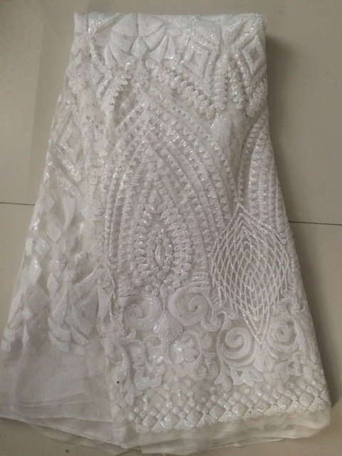 Buy sequins lace fabric for wedding dress for French lace fabric for wedding dresses