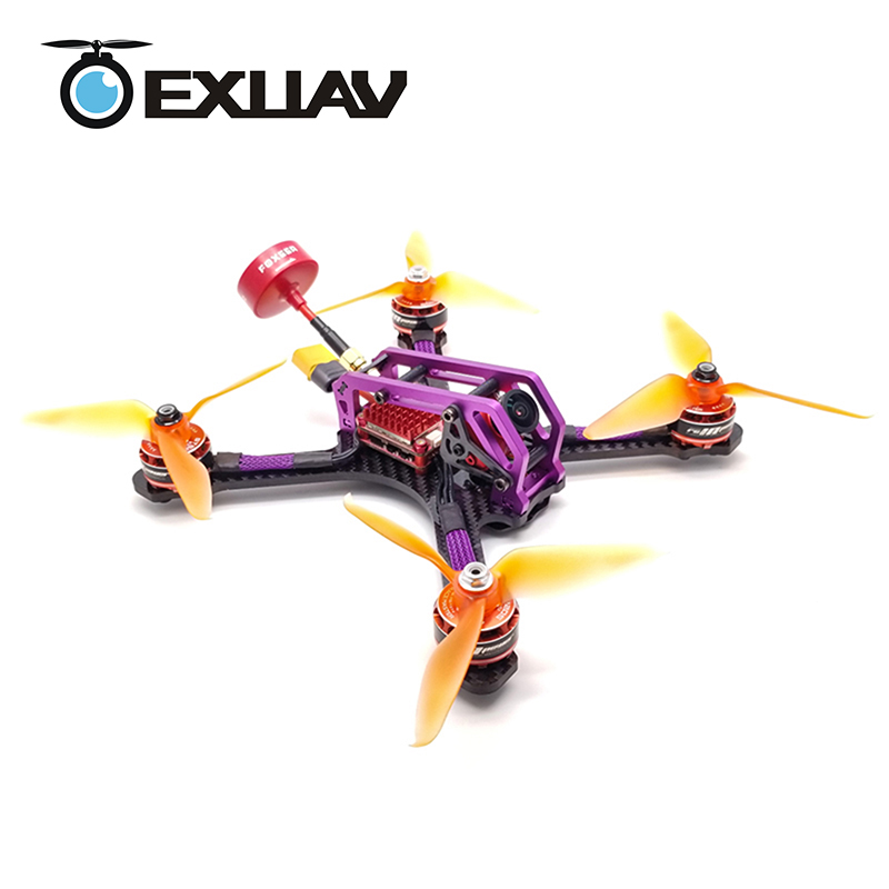 EXUAV Mango 210 OEM NO.27 Racing Drone Packages 210mm Wheelbase 4mm Arm Carbon Fiber Frame Flytower F4/F3 RC FPV For DIY Toy bfight 210 210mm brushless fpv racing drone