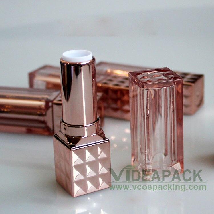 100 pcs 4g de plástico tubo de batom tubo quadrado DIY ouro rosa a cera de  abelha lip balm tubo ferramentas de beleza padrão interno tamanho do copo  12.1mm b0f37a54b6