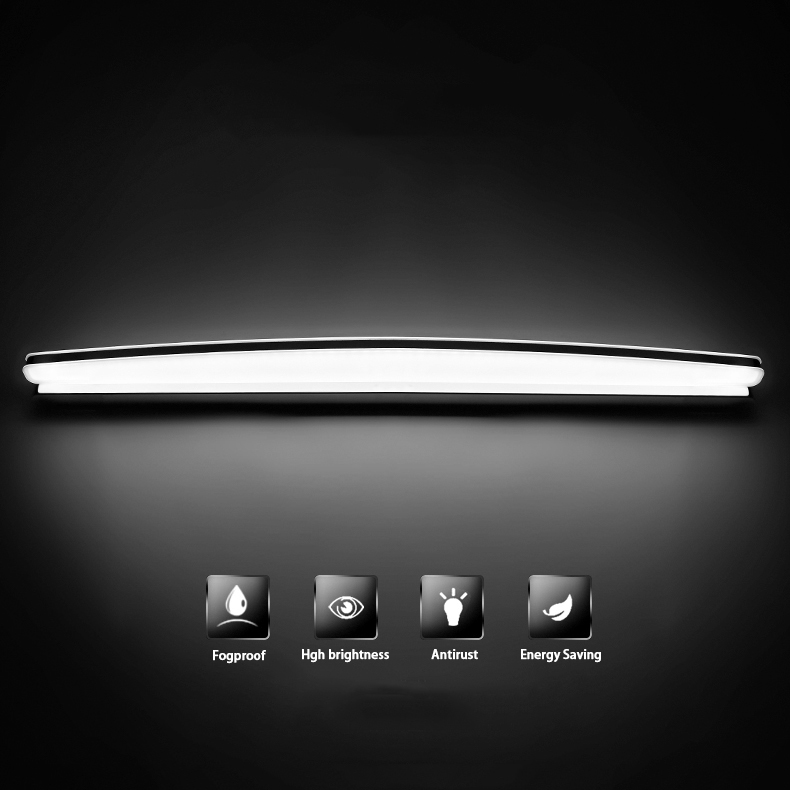 16W 80cm Modern led Mirror light wall light. Fogproof bathroom wall lamp cosmetic lamp cabinet lamp stainless makeup Wall Sconce antique led mirror lamp wall lamp toilet bathroom cabinet antifog light led retro makeup mirrorlamp fitting modeling wall sconce