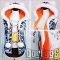 Japanese Anime Super Sonico Clothing costume cat ears hoodie ( jacket tshirt skrit)set