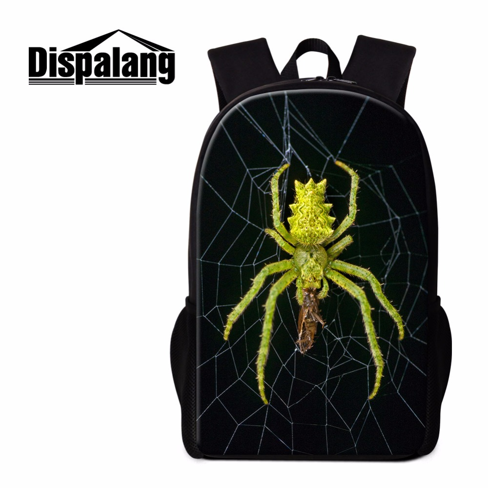 Dispalang Cute Insect School Backpack For Child Cool Book Bag For Teens Travel Bag For Boy  Pretty Rucksack Print Spider Pattern