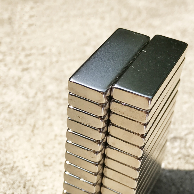 10PCS 30 10 4mm N45 Strong permanent NdFeB rare earth magnet plating Nickel 30X10X4MM in Magnetic Materials from Home Improvement