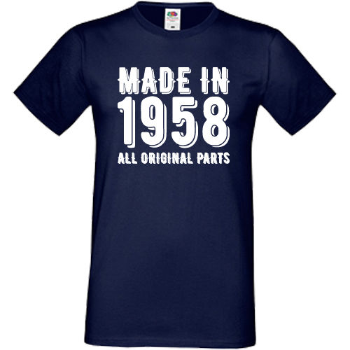 Made In 1958 All Original Parts T Shirt Sofspun 60th Birthday Present Gift MenS Shirts Summer Style Fashion Swag Men From Mens