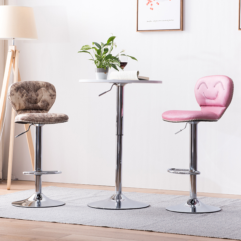 Pink purple bar chair PU leather seat white red yellow green ect color Luxury club stool free shipping bar chair yellow red blue green white stool free shipping