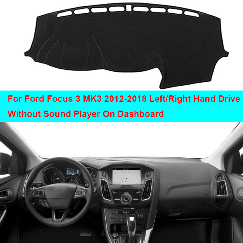 Car Inner Dashboard Cover Dash Mat Carpet Cushion For Ford Focus 3 MK3 2012 - 2016 2017 2018 Sun Shade Dash Board Cover DashMat