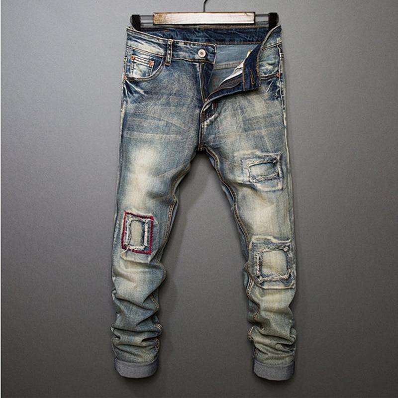 ФОТО Men Brand FOG jeans Slim Fear of god Hip Hop Destroyed Denim Biker Justin Bieber Kanye West men's Button Hole pants Cooo Coll