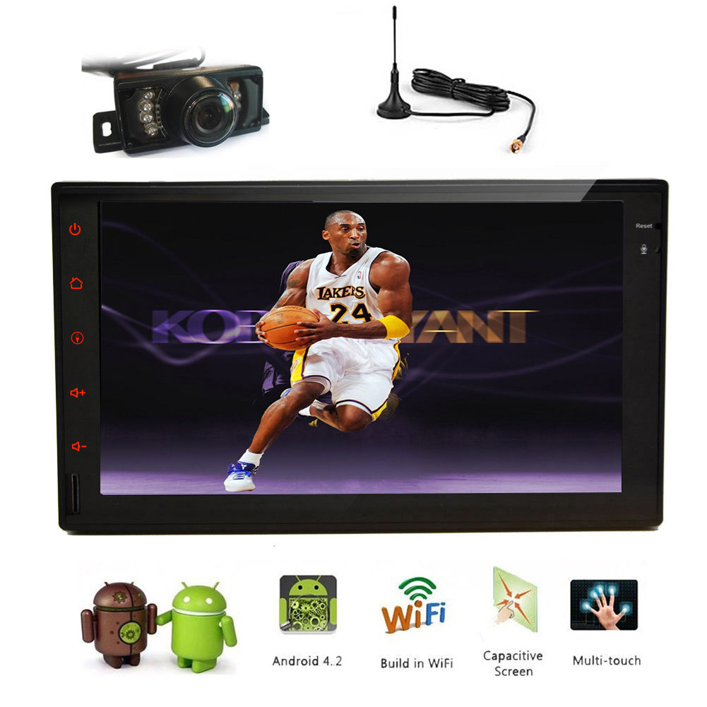 System APP Camera USB Android 5.1 Car Stereo PC Radio Capacitive Digital TV 4-CORE NO-DVD WiFi GPS Bluetooth Audio