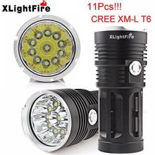 High Quality    28000LM 11 x   XM-L T6 LED   night Hunting Flashlight 4 x 18650 Lamp Torch lanterna zaklamp