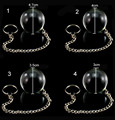 4 size Pyrex crystal glass butt plug metal chain anal beads Kegel exercises vaginal balls anal sex toys for women sl2192