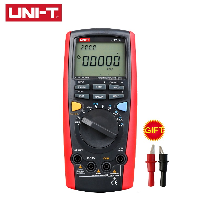 UNI-T UT71A multimètres numériques intelligents Ture RMS AC courant continu tension USB résistance testeur ampèremètre multimètre