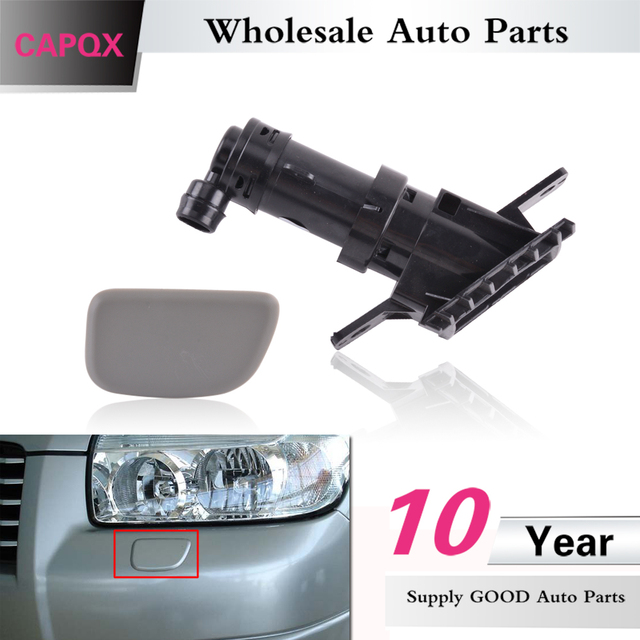 Capqx For Subaru Forester 2005 2006 2007 Front Head Lamp Headlight Washer Nozzle Actuator Cover Cap Spray Jet Housing