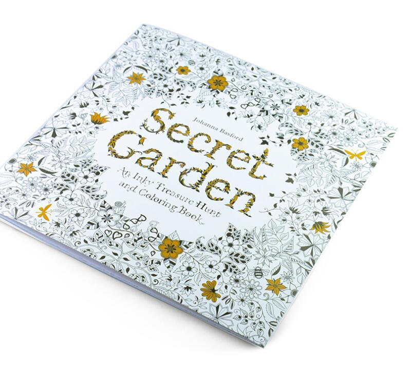 24 Pages Drawing Book Secret Garden English Edition Coloring Book For Childs Adult Relieve ...