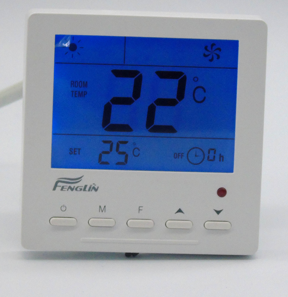 Digital MODBUS RS485 thermostat temperature controller with fan coil unit [randomtext category=