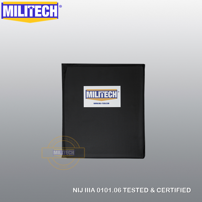 MILITECH 10'' X 12'' SC Cut Bulletproof Plate Aramid Ballistic Panel E2 Level 2 Stab Resistant Body Armor Soft Armor NIJ 0115.00