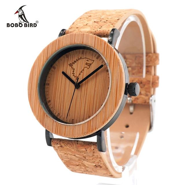 Bobo Vogel Bambus Uhr Manner Und Frauen Luxus Top Marke Kork Band