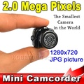 Lowest Price Micro Portable HD CMOS 2.0 Mega Pixel Pocket Video Audio Digital Camera Mini Camcorder 640*480 480P DV DVR 720P