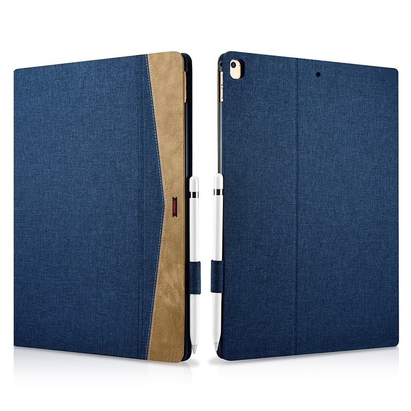 цена на Durable Fabric Leather Case For iPad Pro 12.9 Case Ultra Thin Flip Cases Wake Sleep Smart Cover For iPad Pro 12.9 inch 2017 Case