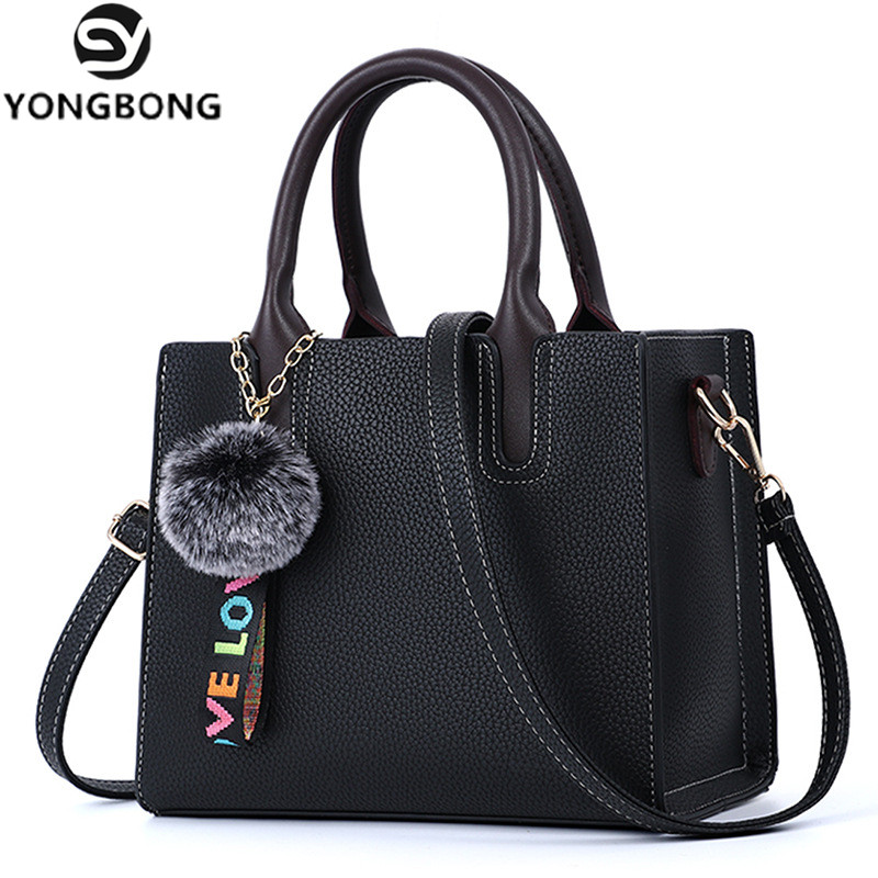 YONGBONG 2018 New Fashion Woman Shoulder Bags Famous Brand Luxury Handbags Women Bags Designer PU Totes