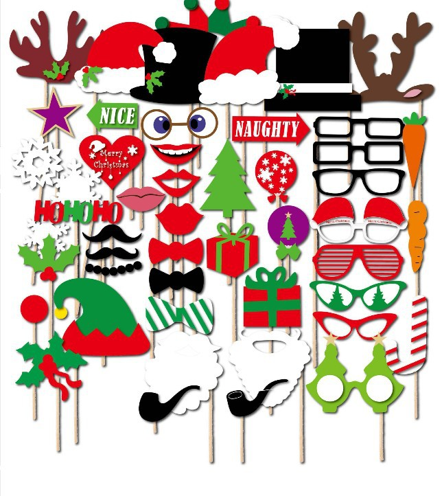 Free Shipping 50pcs Photo Booth Props Moustache on A Stick Weddings Christmas Birthday Party