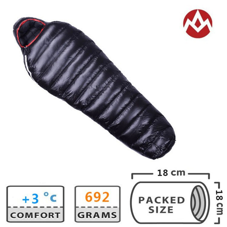 G400 Aegismax Professional Ultralight outdoor white goose Down winter mummy type sleeping bag