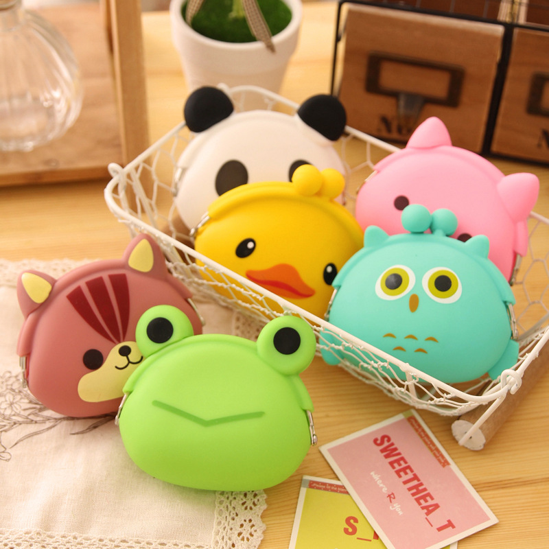 Animals Girls Silicone small mini Coin Bag mini Coin Purse change wallet purse women key wallet coin Wallet Children Kids Gifts 2017 cute girls coin purses small coin bag key ring kawaii bag kids mini wallet card holders leather cartoon coin purse	1bw73