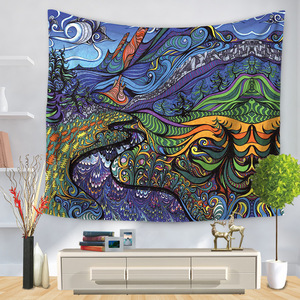 Image 5 - Hongbo Hippie Mandala Pattern Tapestry Abstract Painting Art Wall Hanging Blanket Livingroom Decor Crafts Multifunction Mat