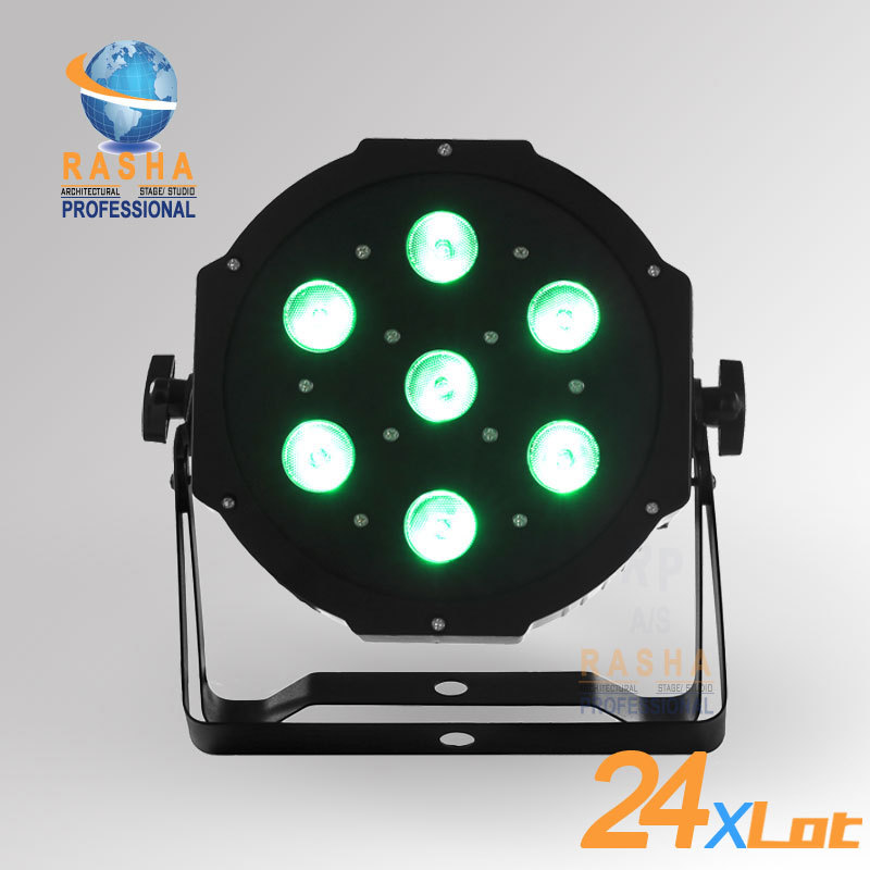 24X LOT Freeshipping  ADJ NEW 7*12W Quad LEDs (RGBA/RGBW) NEW Mega Quadpar Profile , DMX Par Can,ADJ PAR LIGHT 4x lot freeshipping adj 7 12w 4in1 quad leds rgba rgbw mega quad led par profile dmx led par can american stage light
