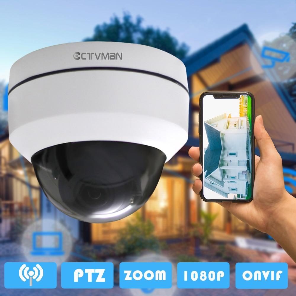 CTVMAN Security PTZ Cameras Dome Pan/Tilt/Zoom 3X Camera Wifi Outdoor Network Wireless PTZ IP Camera 1080P P2P Mini Wi-fi Cam