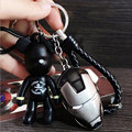 The Avengers Marvel Character Captain America Shield Hulk Batman Mask KeyChain Car Keyring Bomgom Popobe Gloomy Bear Key Chain