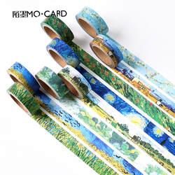 1 шт. слабые ленты DIY Ван Гога бумага, малярный скотч декоративный клейкие ленты Скрапбукинг наклейки Размер 15 мм * 7 м