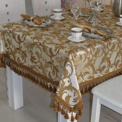 Hot Sale Modern Contracted Table Cloth Tablecloth Square Gift Fashion  Luxurious Multifunctional Tassels Thick Dining Kitchen