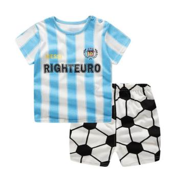 Brand Designer Baby Boy Clothes Sport Clothing Tracksuit Active  Striped Tshirt +shorts Toddler Clothing Sets 1