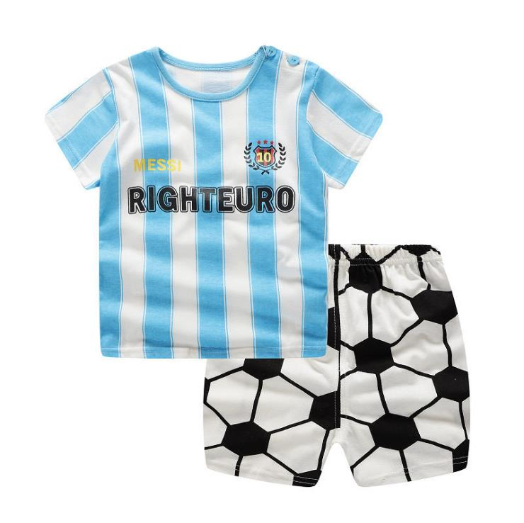 2019 New Arrival Infant Clothing Cotton Football Sports Outfits Clothing Set For Baby Boy Clothes Cotton Costume