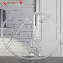 cgreattech brand Mp3 glass hookah fashion shisha pipe with silicone hose