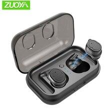 Bluetooth V5.0 Wireless Earphone TWS IPX5 Waterproof Sport Headset Fingerprint Touch Control True Earbuds Bass Stereo Head-free