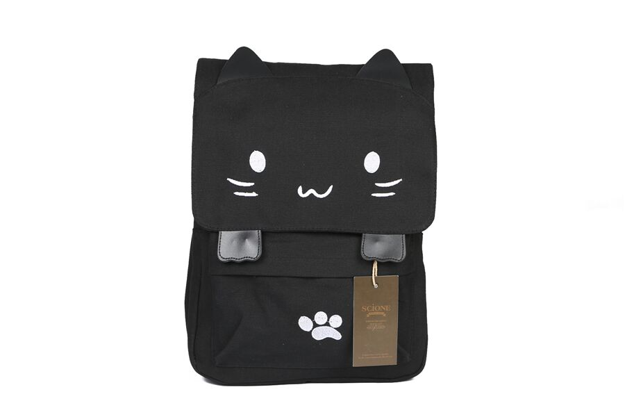 HTB1eLH3QFXXXXXQXFXXq6xXFXXXK - Women Cute Cat Backpack Canvas Kawaii Backpacks School Bag for Student Teenagers Lovely Rucksack Cartoon Bookbags Mochilas