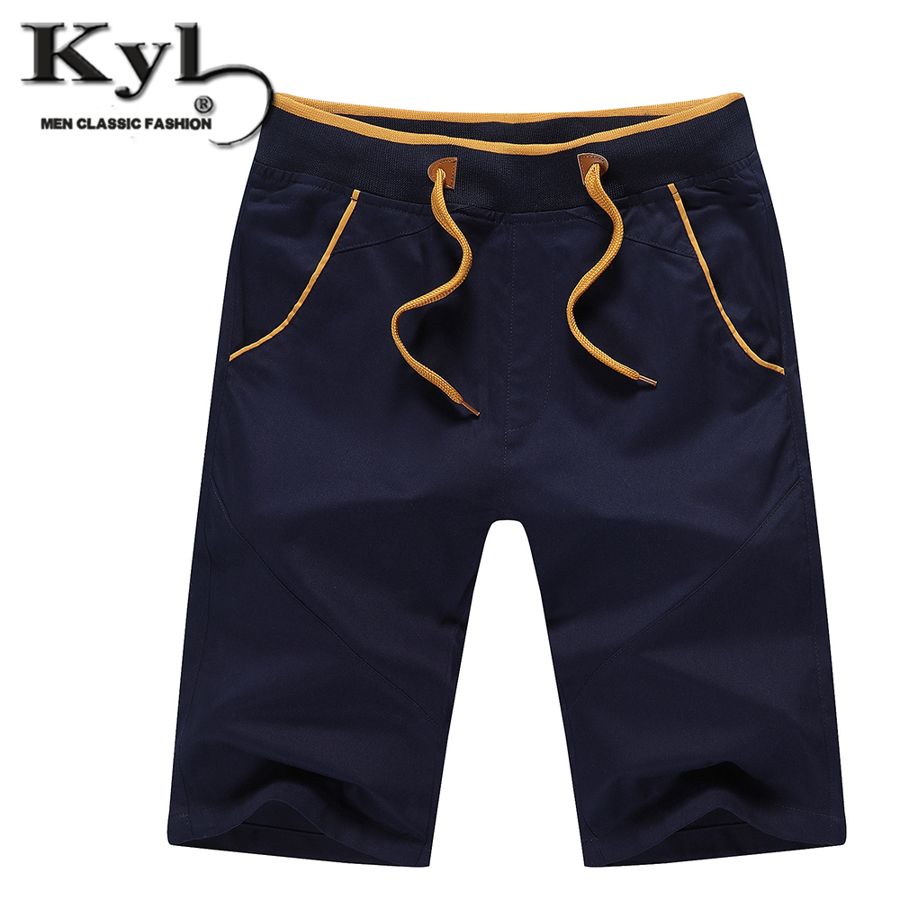 2016 Men Summer Casual Shorts Panelled Brand 95 Cotton Mens Shorts Mid Waist Big Size M