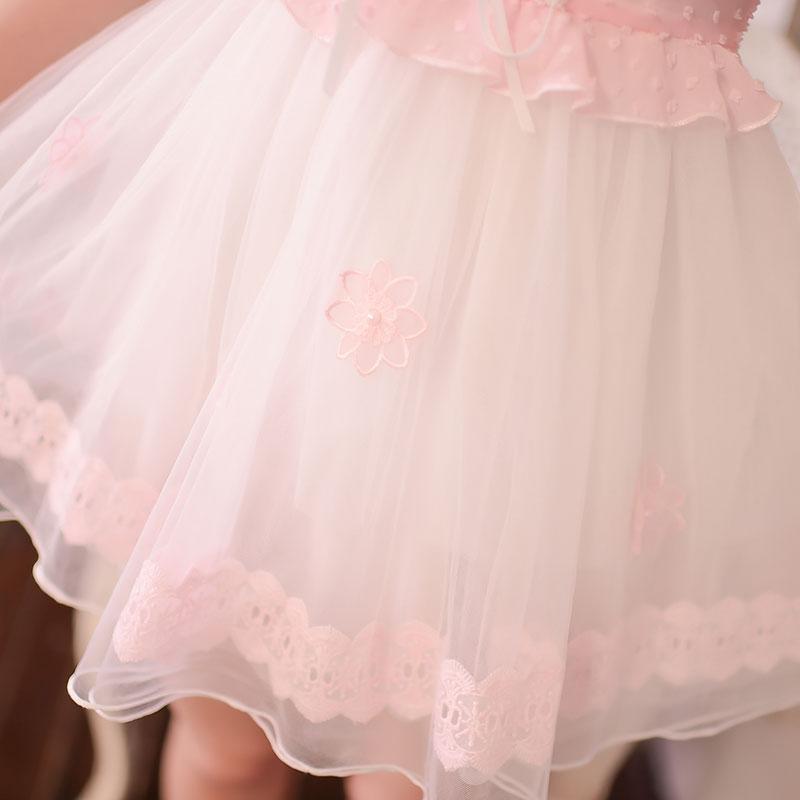 Милое платье принцессы в стиле «Лолита», милое летнее кружевное шифоновое платье в японском стиле с тонкими лямками на плечах C16AB6033