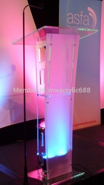 Pulpit Furniture Free Shipping High Quality Price Reasonable Transparent Cheap Clear Acrylic Lectern Acrylic Pulpit